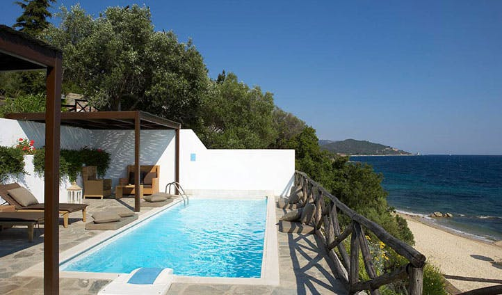 Private pool, Eagles Palace, Greece