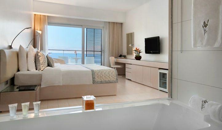 A deluxe room at the Kempinski Hotel Aqaba, Jordan