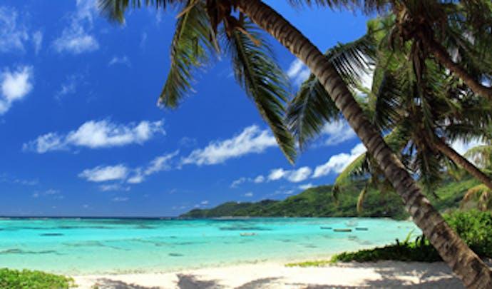 Deserted beach in the Seychelles