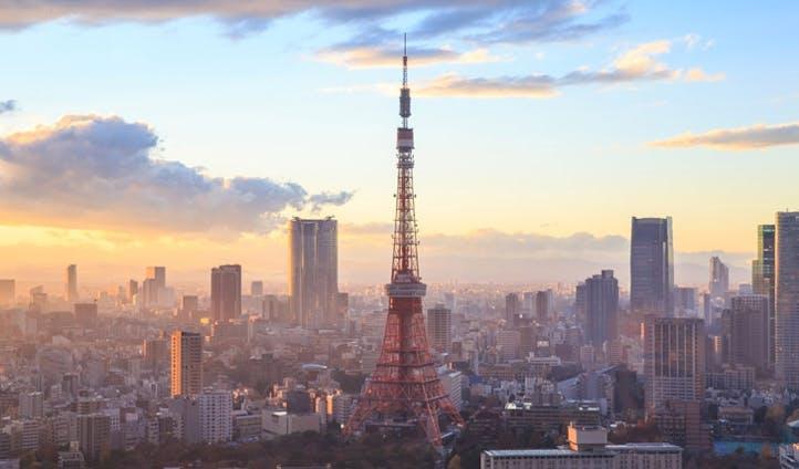 Panoramic views of Tokyo