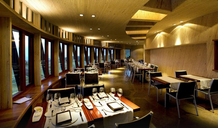 Dining room of Explora Lodge, Chile