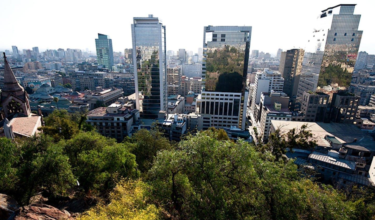 Views over Santiago, Chile