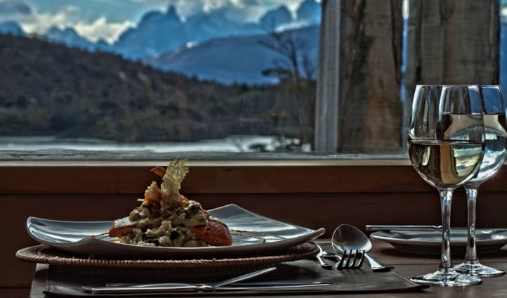 The cuisine at Camp Patagonia, Chile