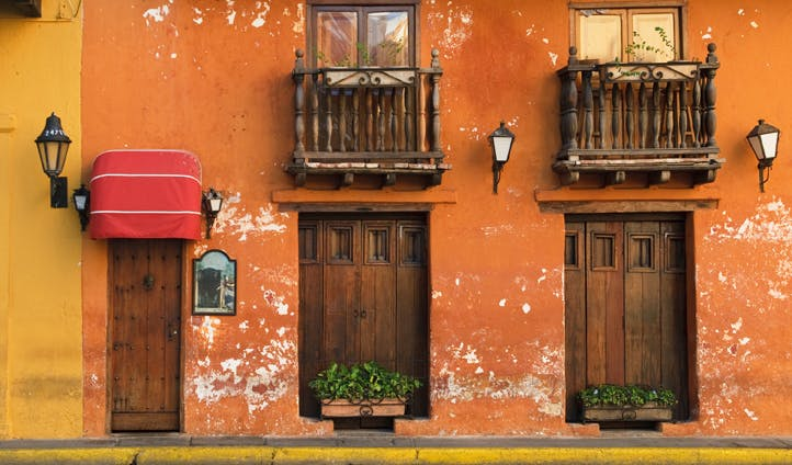 The streets of Cartagena, Colombia
