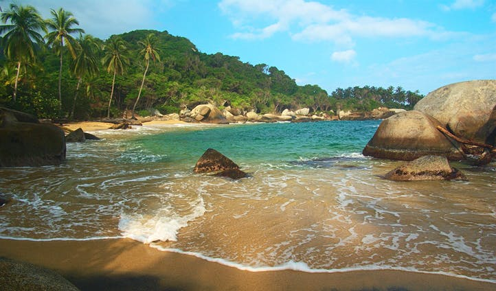 A beach in Colombia