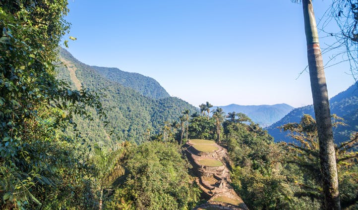 The ruins of Cuidad Perdida, Colombia