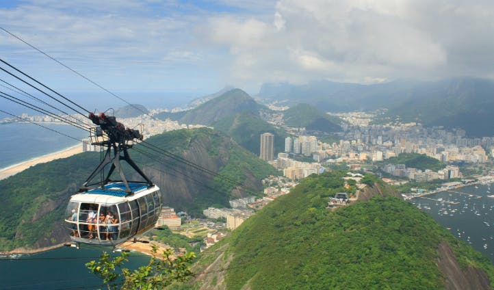 View from the Sugarloaf in Rio de Janeiro