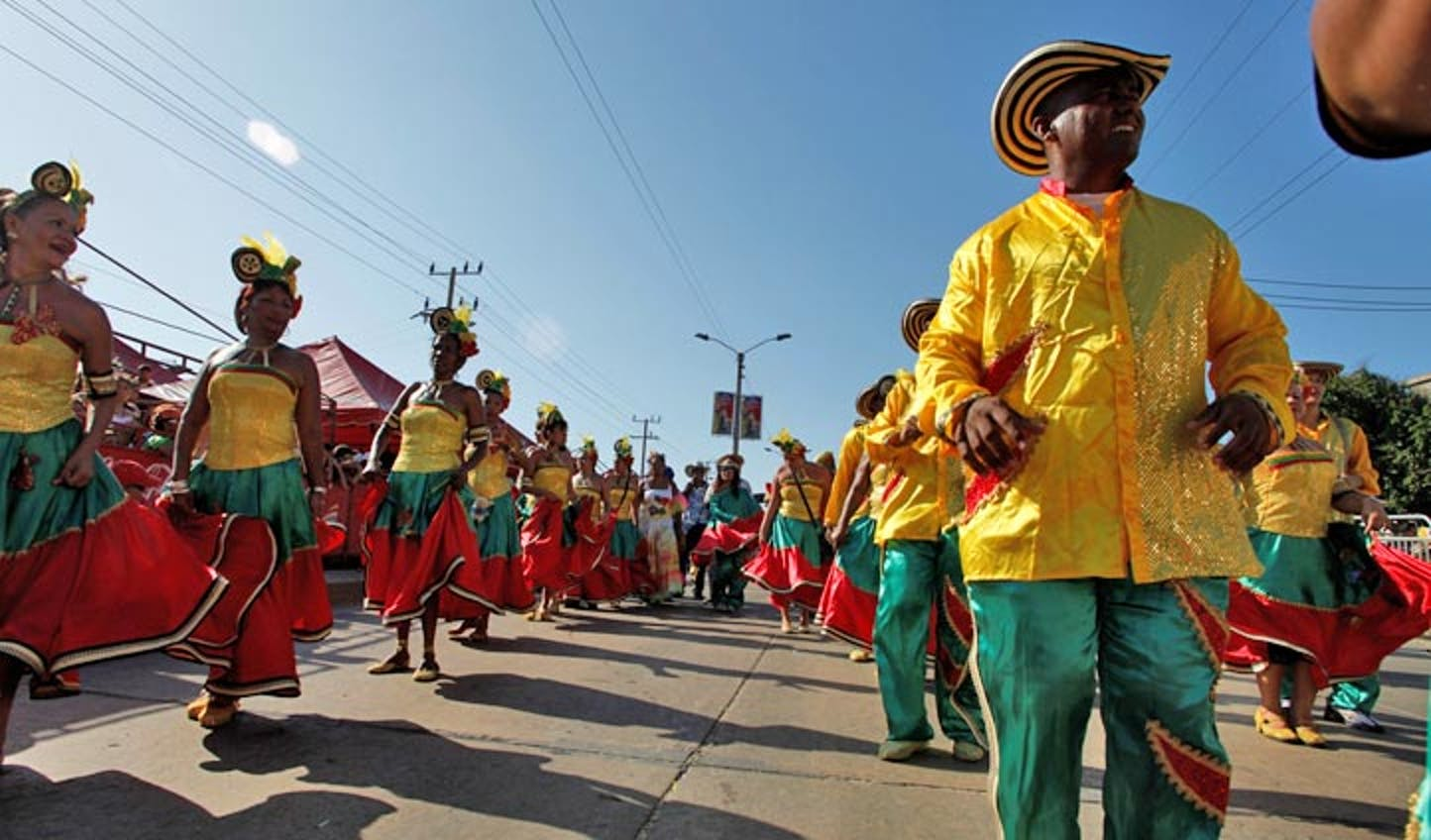 Carnival processions in Colombia