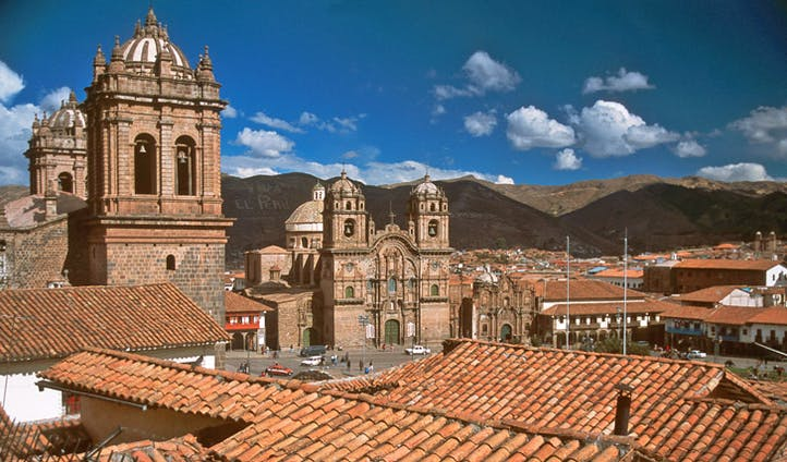 The city centre of Cusco, Peru