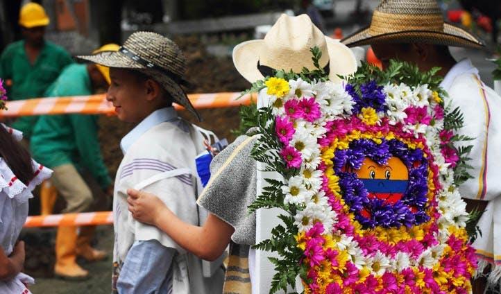 Flower arrangements in Colombia