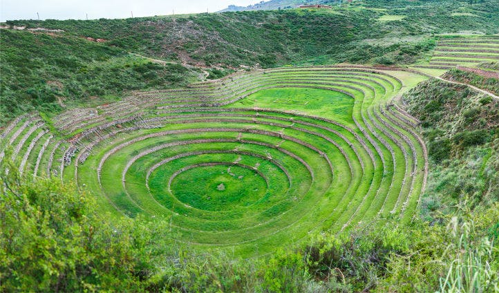 Inca terraces of Moray