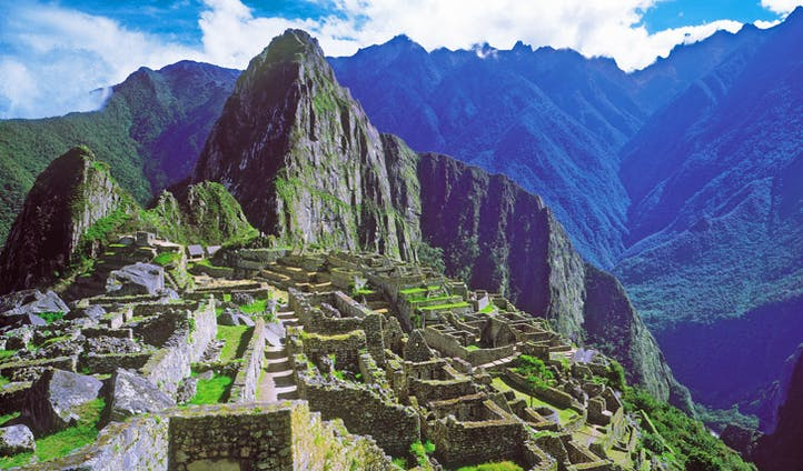 Views across Machu Picchu