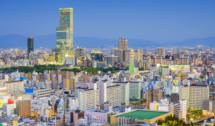 The Osaka skyline, Japan