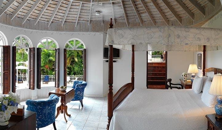 A villa at the round hill resort, Jamaica