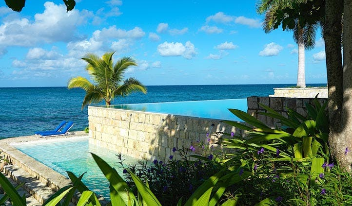The infinity pool at the round hill, Jamaica