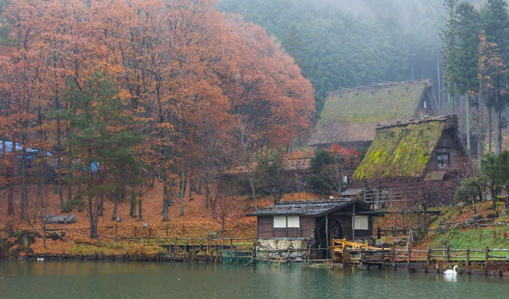 A lake in Takayama, Central Japan
