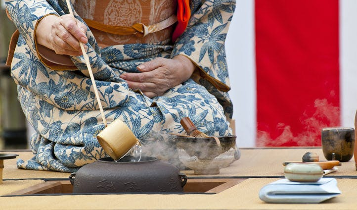 A tea ceremony in Kyoto, Japan
