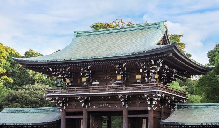 A shrine in Japan