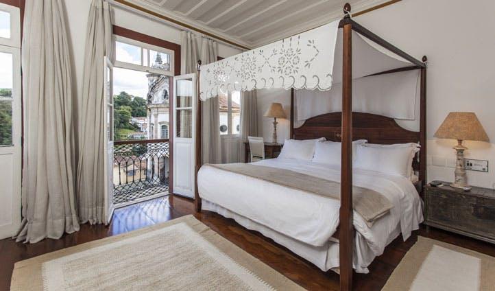 Bedroom at Solar do Rosario hotel