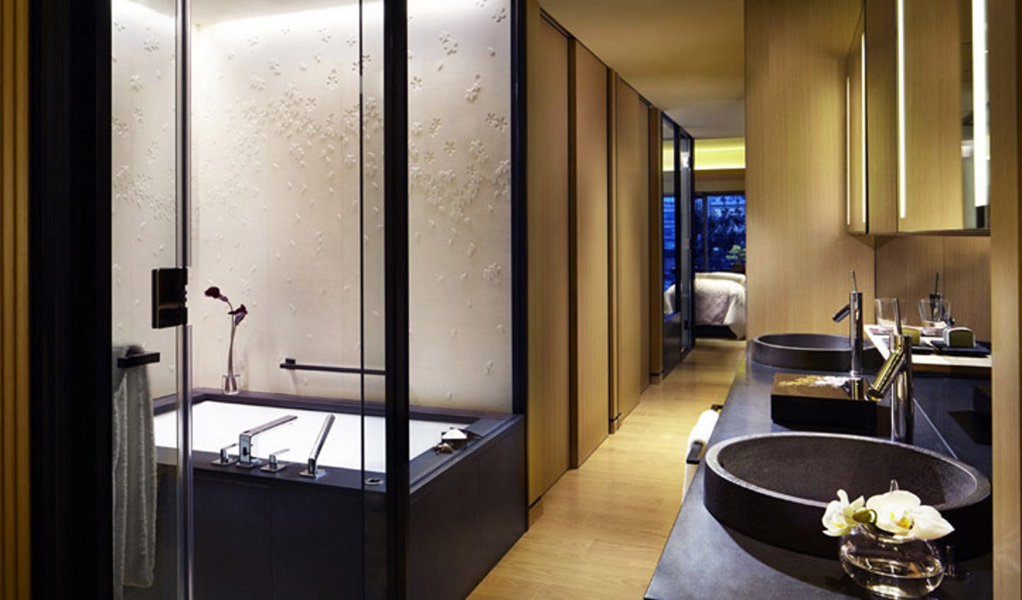 One of the suites at the Ritz-Carlton, Kyoto