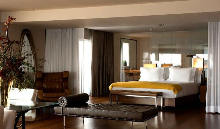 Bedroom at the Fasano hotel