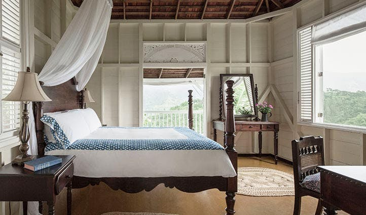 Charming and cosy rooms at Strawberry Hill Hotel, Jamaica