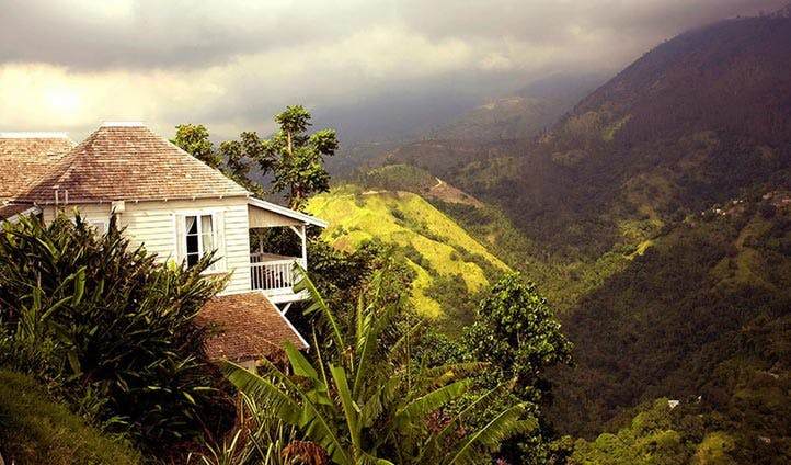 The backdrop to Strawberry Hill Hotel, Jamaica