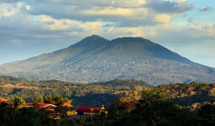 An impressive view of the Mombacho Volcano, Nicaragua