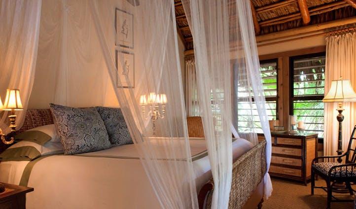 A bed at Little Palm Resort, Florida Keys, USA