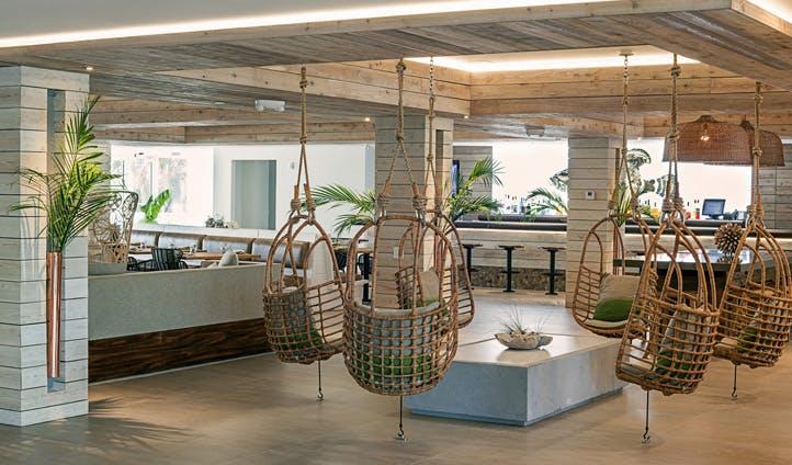 The lobby at Amara Cay Resort, Florida Keys, USA