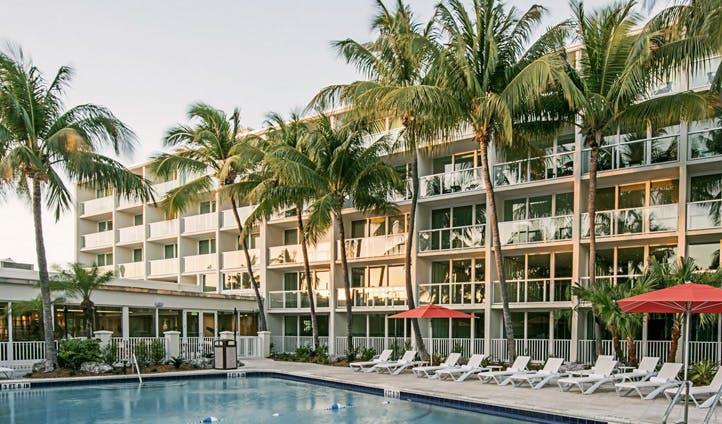 The pool at Amara Cay, Florida Keys, USA