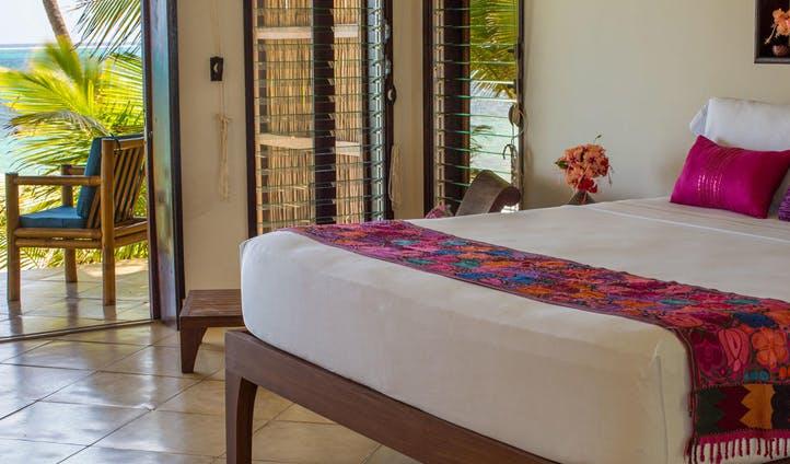 A bedroom at Yemaya Resort, Nicaragua