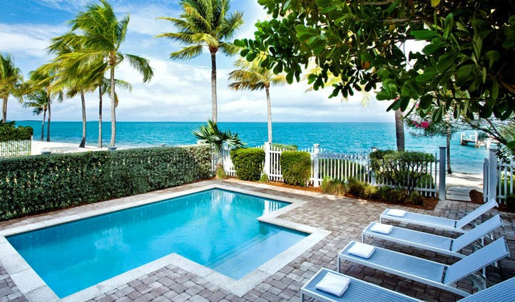 A pool at Sunset Key Resort, Florida Keys, USA