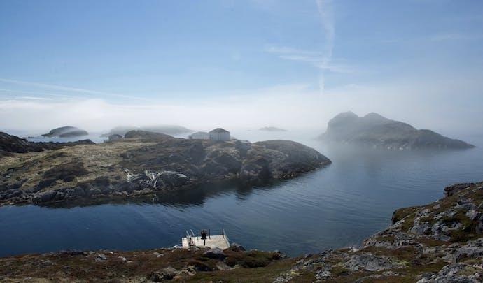 The mist rises over Fogo Island, Canada