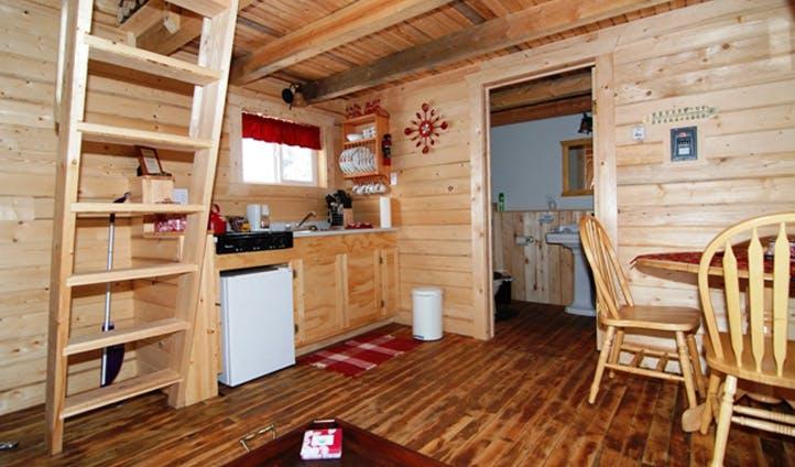 Country Cabin Rental Interior, Northwest Territories