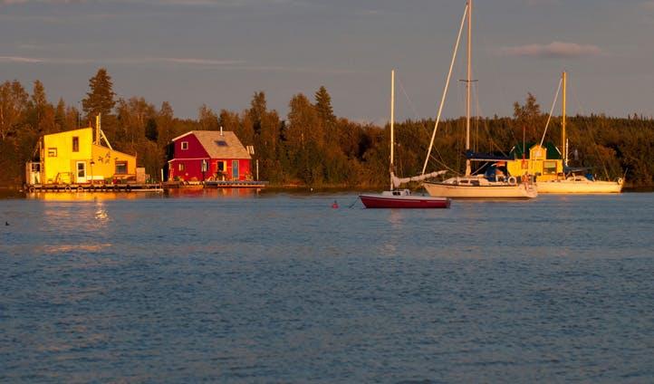 Yellowknife boat houses, Northwest Territories