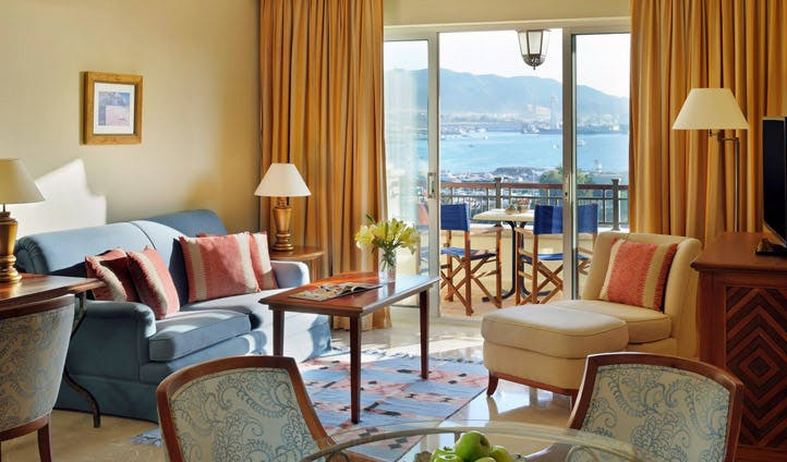 A room at the Movenpick Aqaba Resort, Jordan