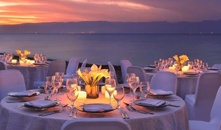 Sunset dining in Jordan