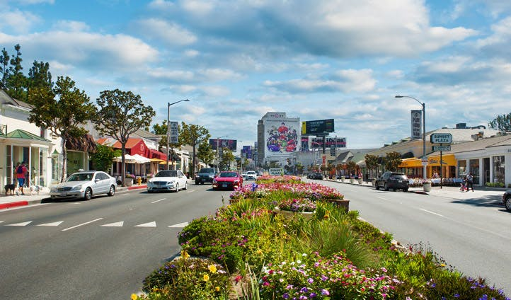 Sunset Plaza, Hollywood, USA