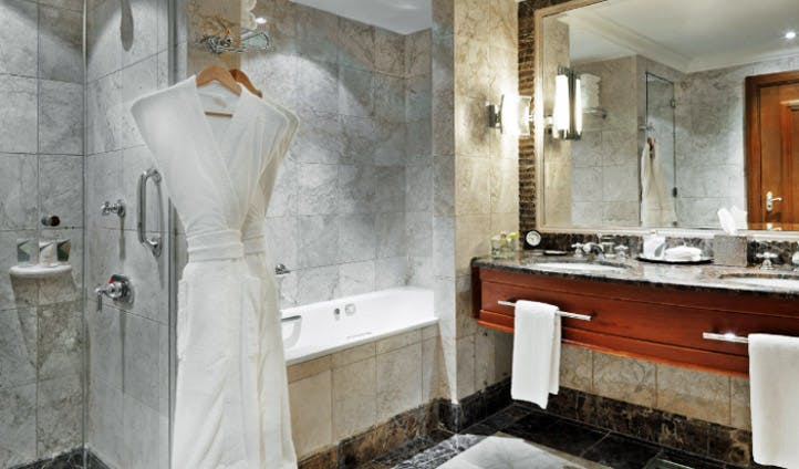 A bathroom at the Grand Hyatt Amman