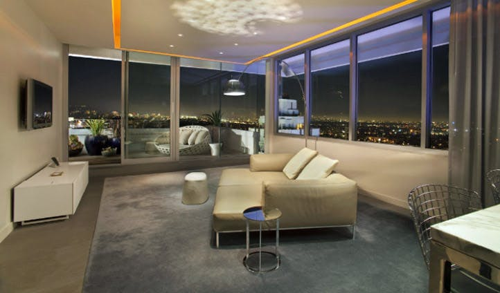 Views from the Penthouse Suite at the Andaz West Hollywood