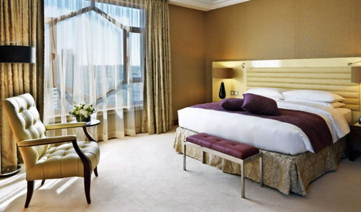 A room in a suite at the Grand Hyatt Amman