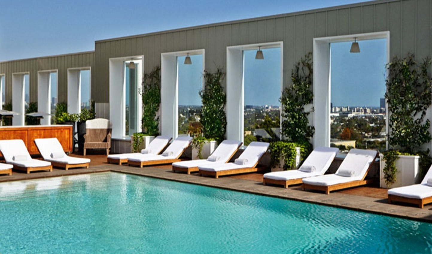 The stunning pool at the Mondrian