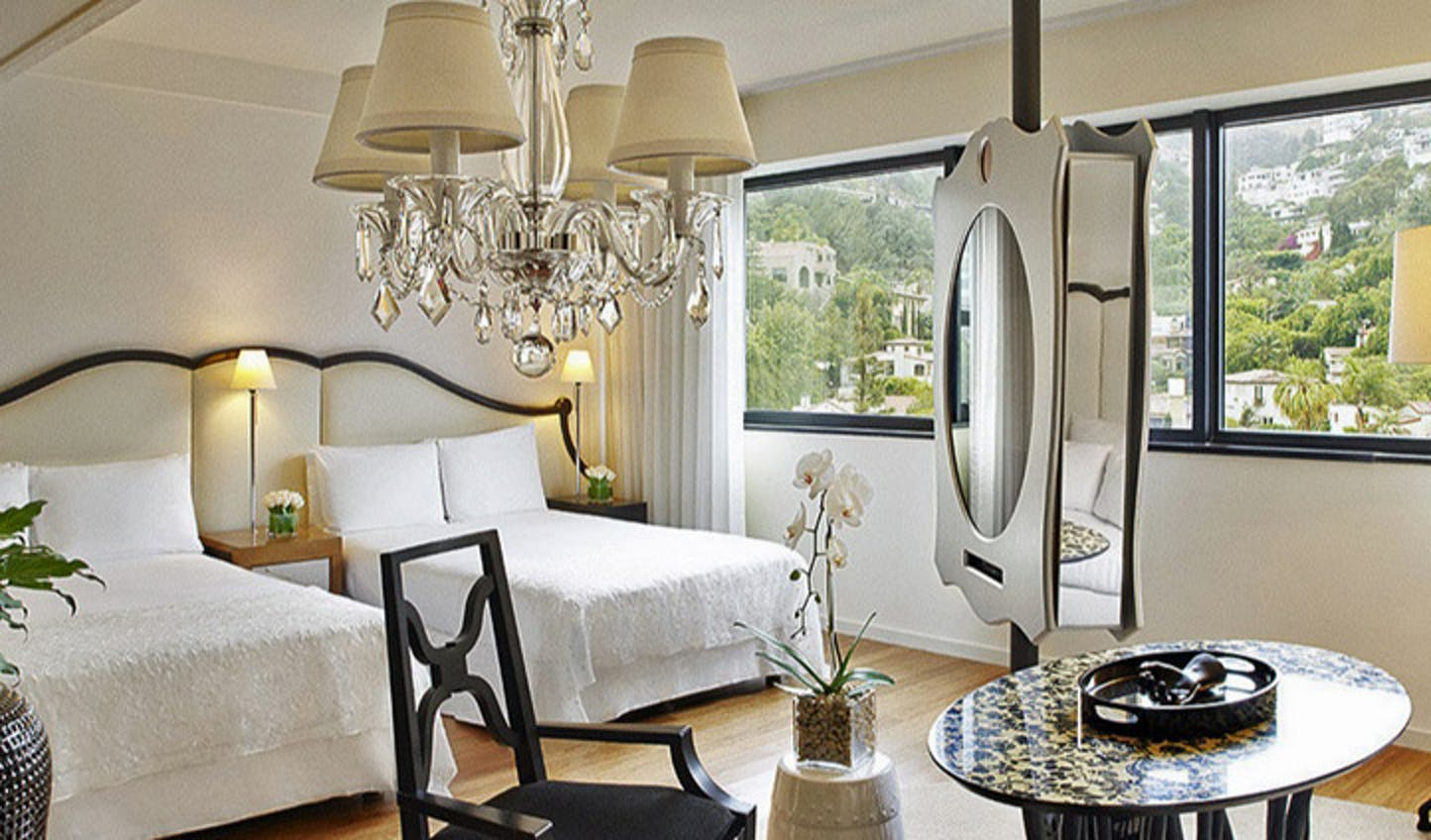 An elegant room at the Mondrian