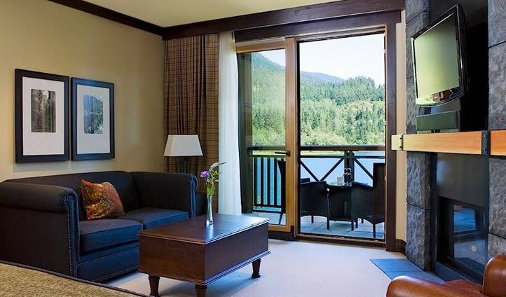 Lakeside views from a suite at Nita Lake Lodge, Whistler, Canada