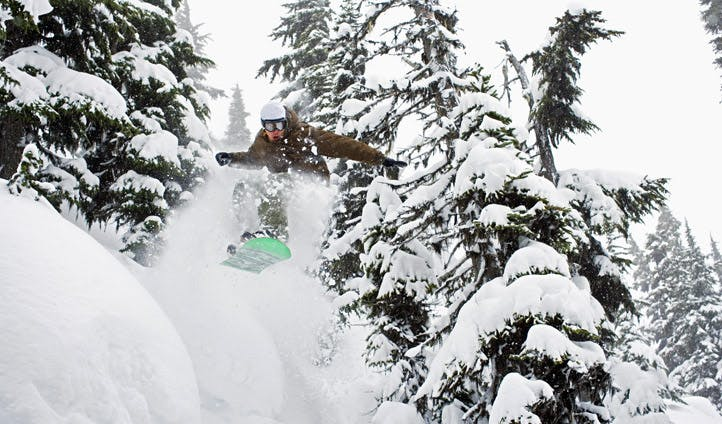 A snowboarder in Whistler, Canada