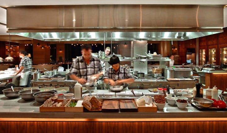 luxury hotel kitchen