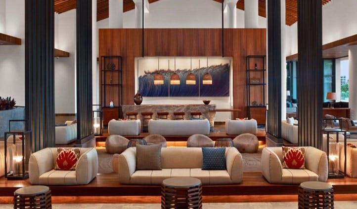 Hawaii resort lobby