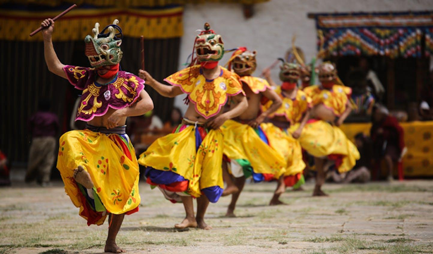 dancers bhutan