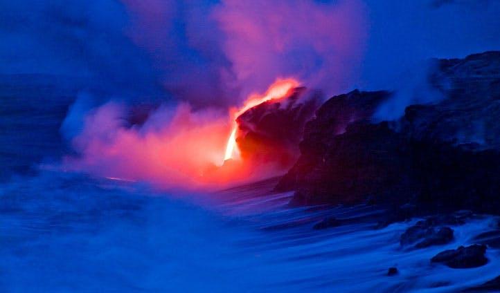 where lava meets sea